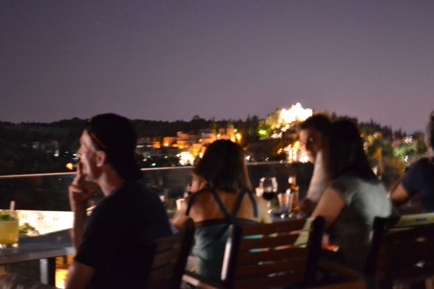 Night view on the Acropolis (from AforAthens Rooftop Bar)