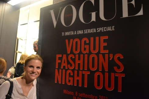 Vogue Fashion Night Out, Milan