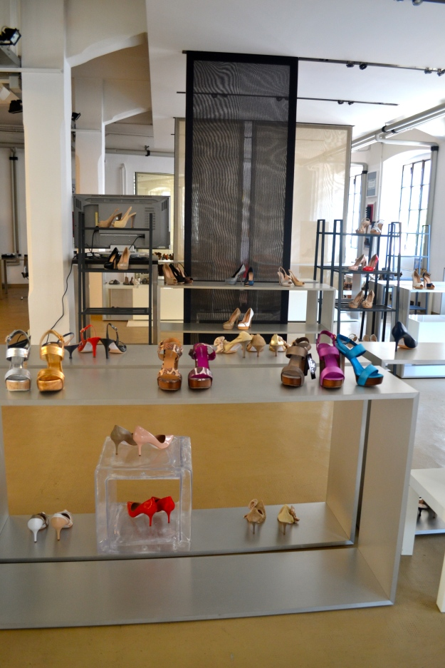 Visit of a Shoes Showroom, Milan