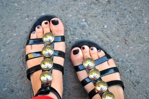 Shoes: Love Moschino, Nail Polish: Noir Ceramic Chanel