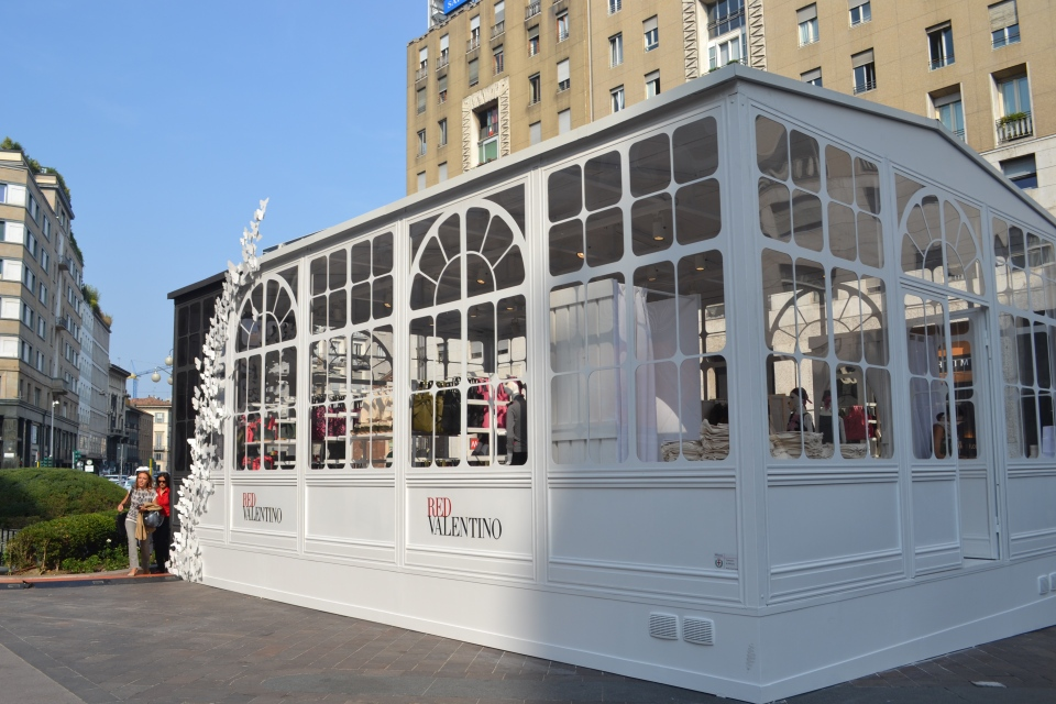 Temporary Red Valentino Store, San Babila, Milano