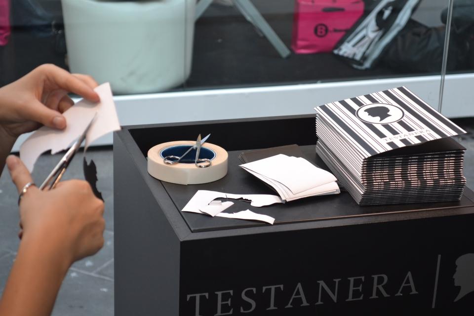 Fashion Silhouettes, Testanera Hair Box, Via Mercanti, Milano