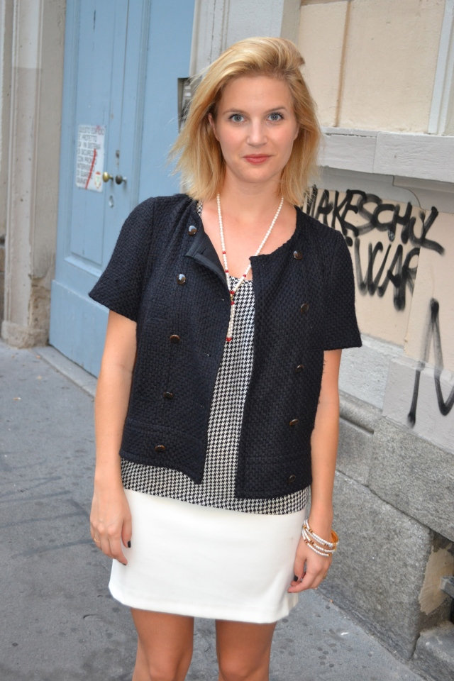 Top: Maje, Jacket: Claudie Pierlot, Skirt: Silikon, Jewellery: Shopped at Istanbul's Grand Bazaar and in India