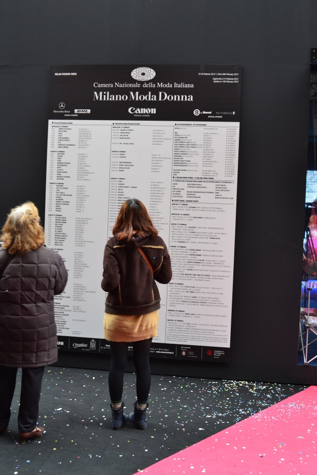 The Giant Catwalk Board - Milan Fashion Week