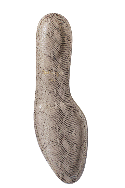 "Red Carpet Insoles, ""Snake"" Model - Leather"