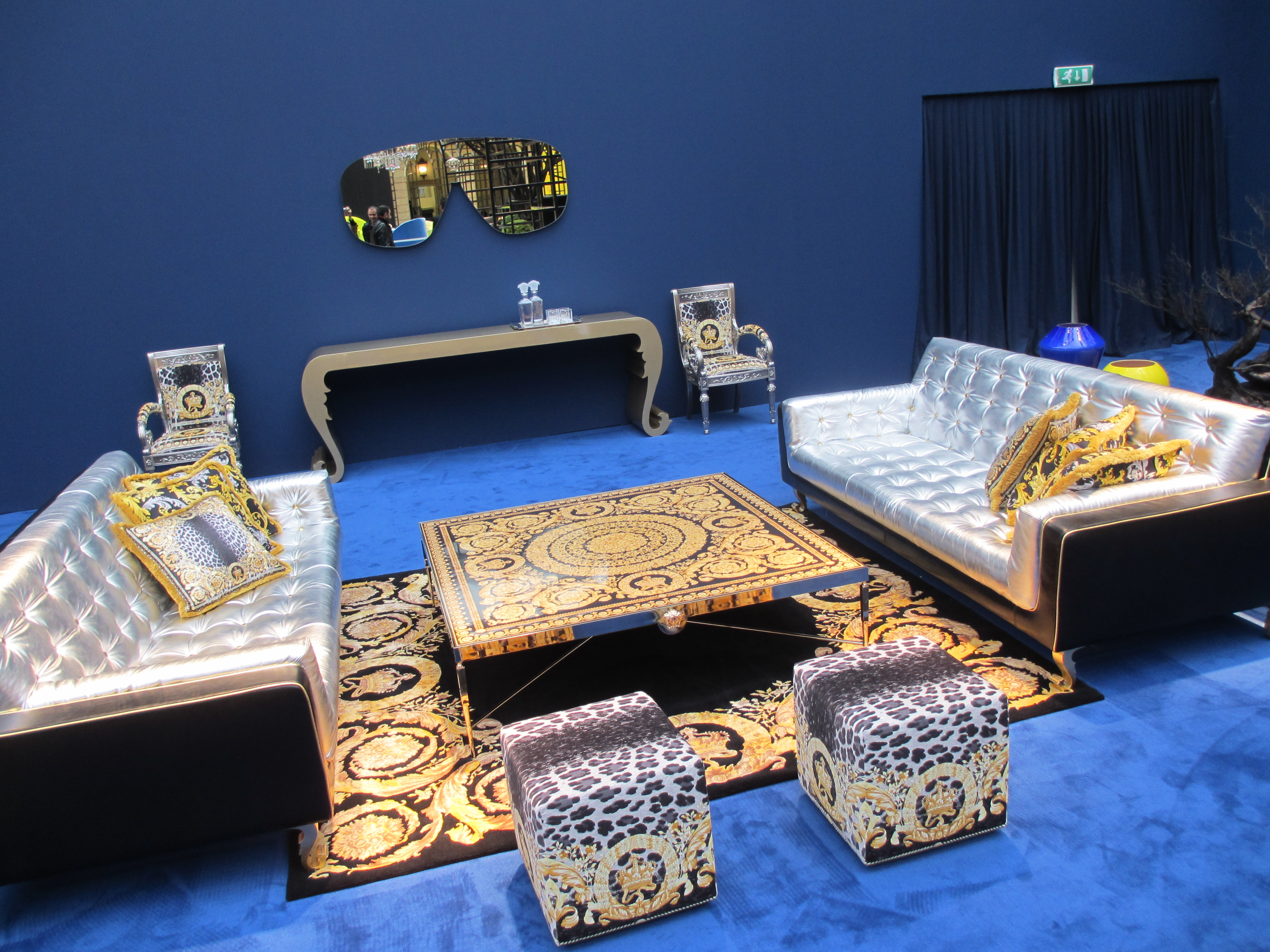 milan furniture fair versace home collection absolutely. Black Bedroom Furniture Sets. Home Design Ideas