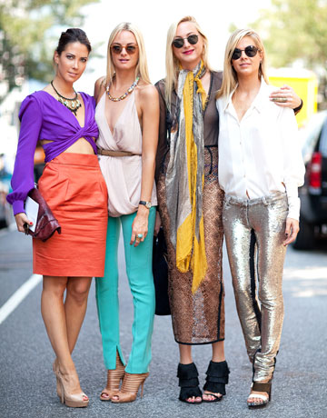New York Fashion Week Street Style - The Clarins Sister