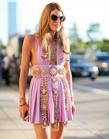 New York Fashion Week Street Style - Anna della Russo