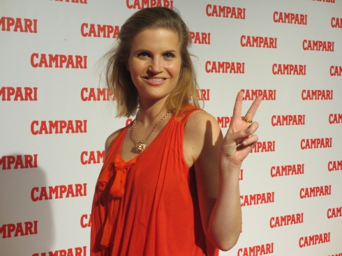 Campari Calendar Reveal Party Penelope Cruz