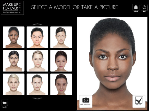 Make Up For Ever Ipad app