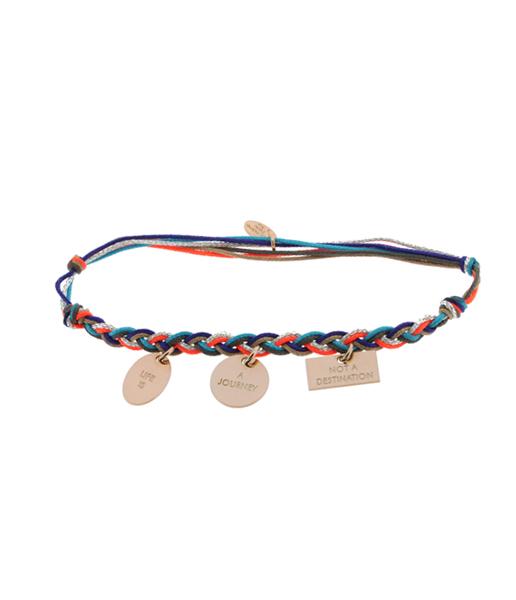 CARATIME La Mome Bijou bracelet tressé Life Is A Journey 95 € (