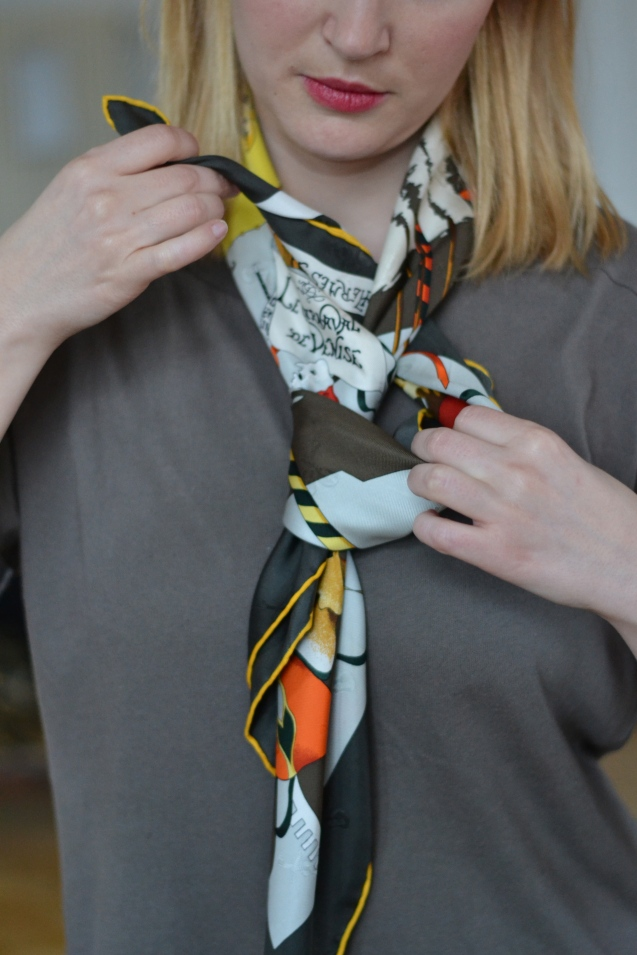 How to Tie a Hermes Scarf The Bow Tie