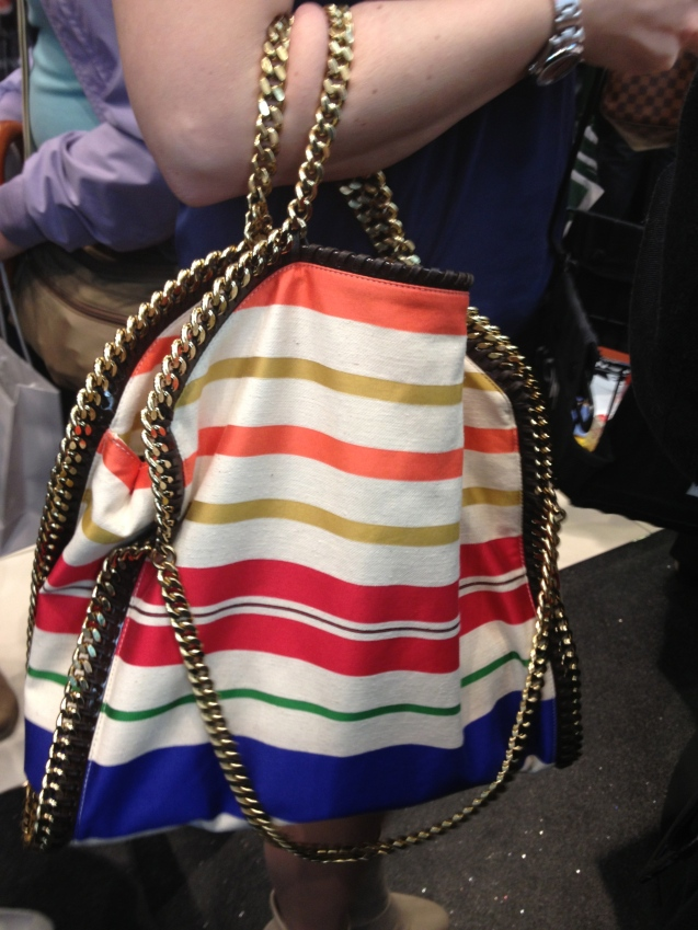 The Falabella striped cotton tote stella mccartney it bag
