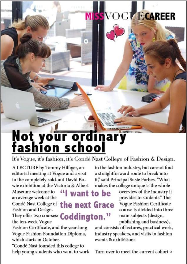 Conde Nast College, London, Fashion School