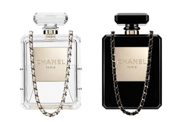 Chanel N5 Perfume Bottle Clutch