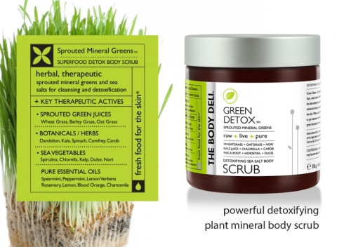 green detox scrub body deli